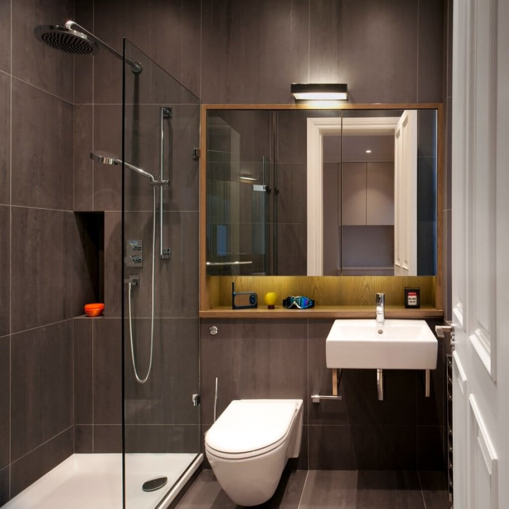 Идеи дизайна ванной комнаты 3 кв м