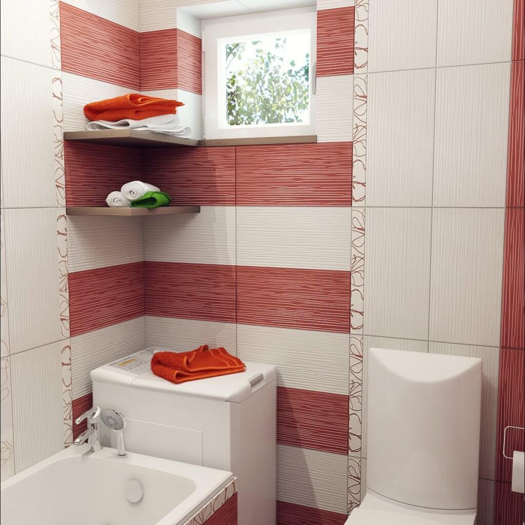 Кафель в небольшой ванной комнате дизайн