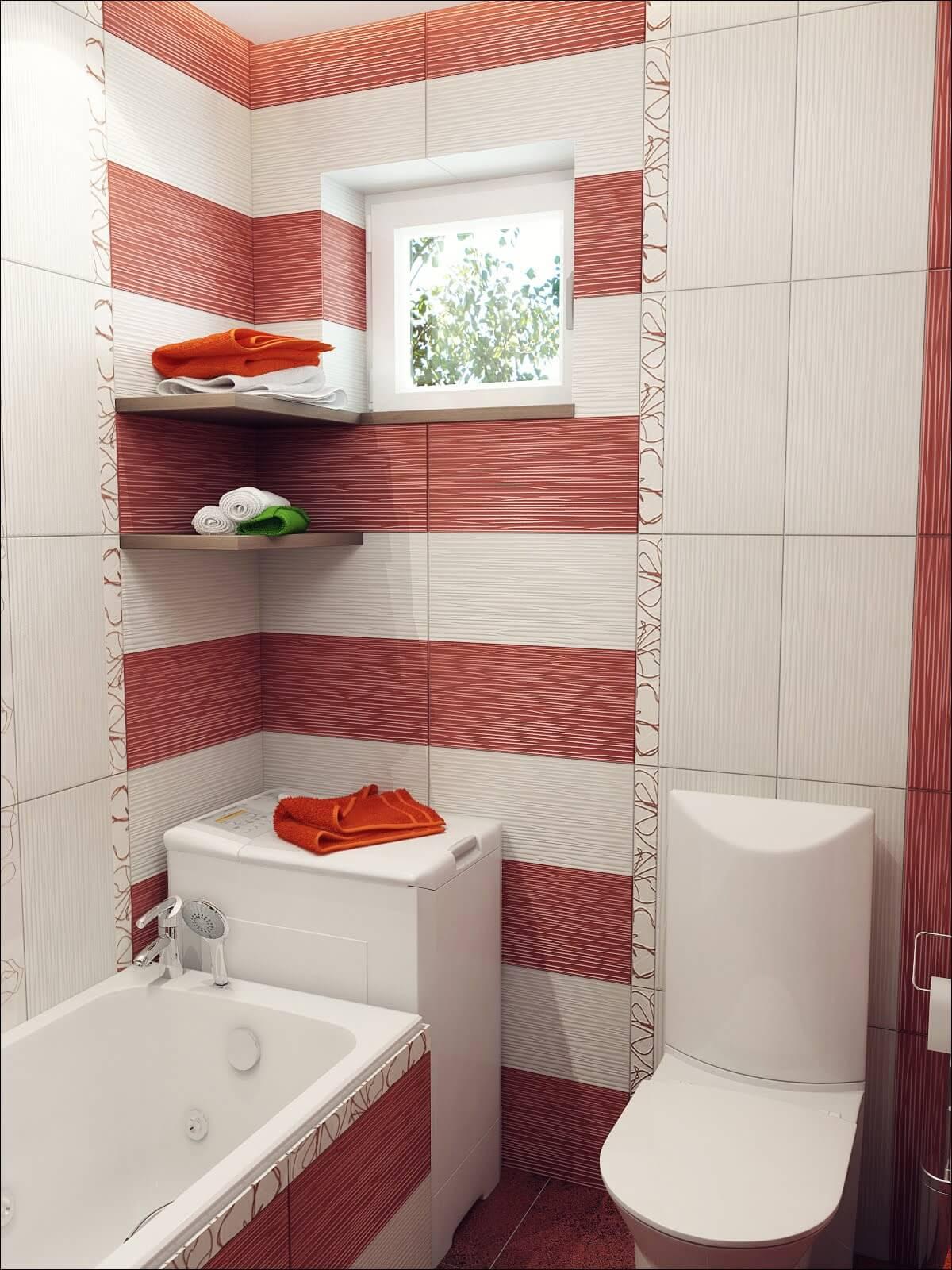 Красивая плитка для маленькой ванной комнаты дизайн
