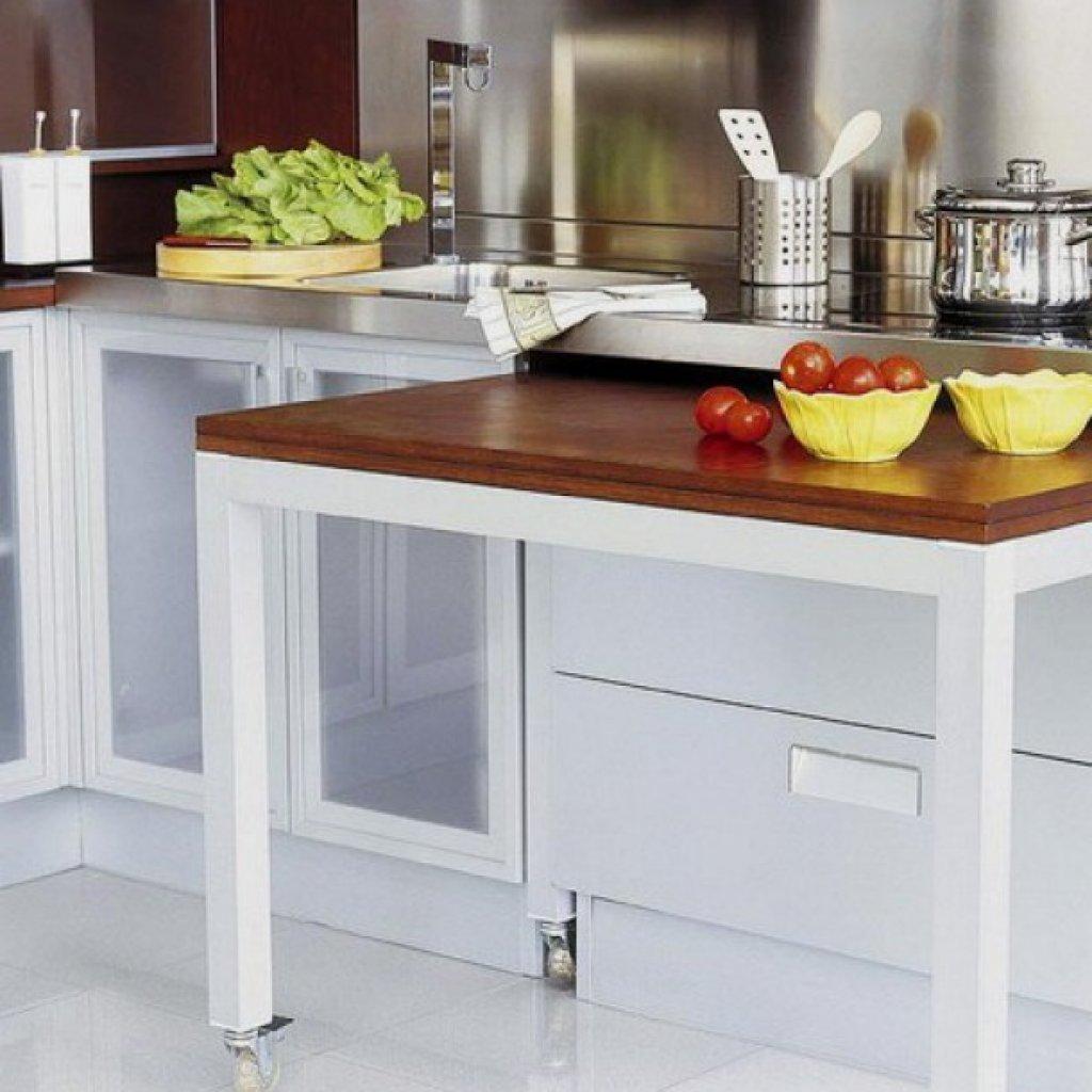 Современный дизайн стола для маленьких кухонь.