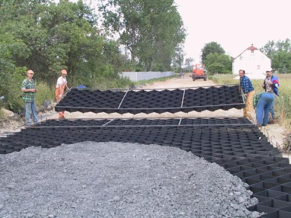 Укрепление грунта с помощью геоматериалов