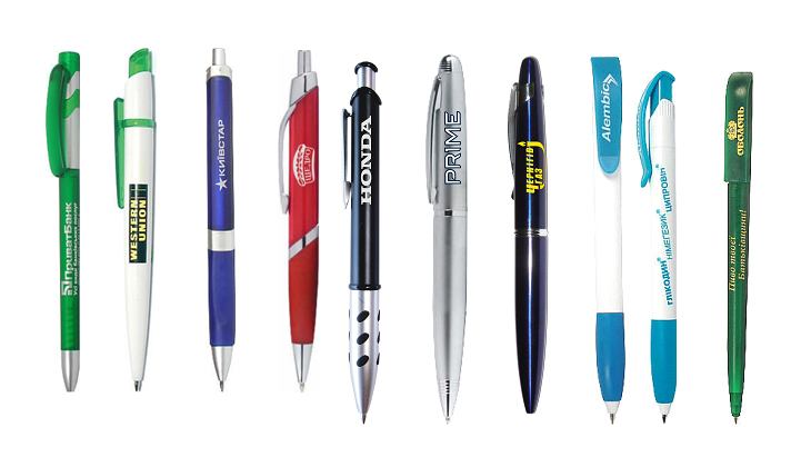 Ручки с логотипом – эффективный и экономичный вид рекламы