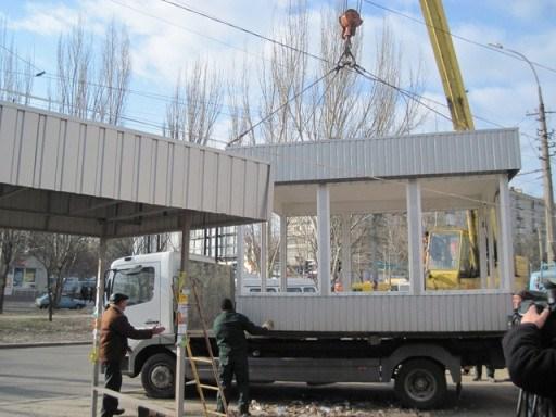 Последовательность проведения демонтажа павильонов