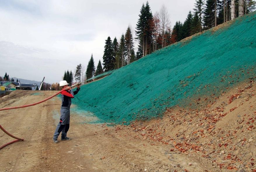 Идеальное зеленое покрытие с помощью технологии гидропосева