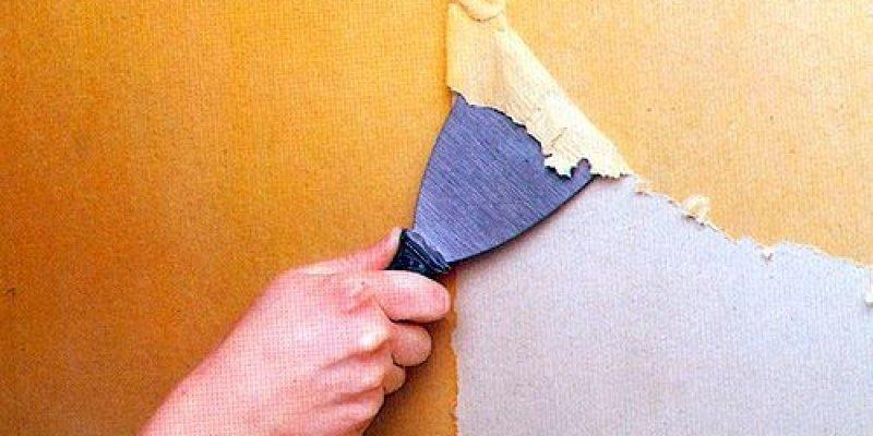 Как снять старые обои со стены быстро